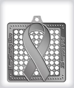 Antique Silver Custom Awareness Medals