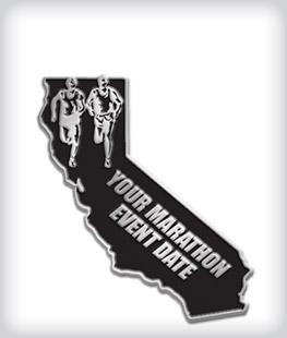 Custom State Shaped Marathon Pins