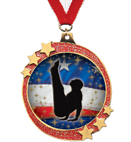 "2 1/2"" Red Glitter Shooting Star Medals"