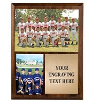 "9""x13"" Walnut Team Photo Plaque"