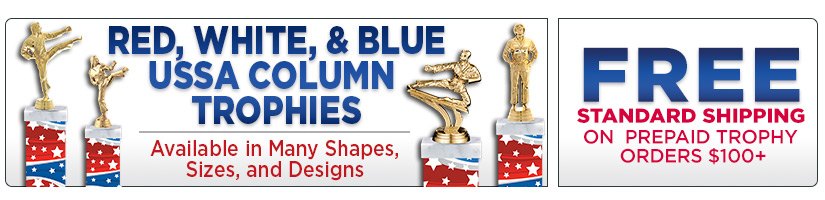 USSSA Red, White & Blue Column Trophies