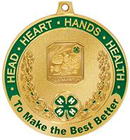 """2 1/2"""" 4-H Food/Nutrition Medal"""