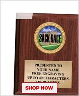 Sack Race Plaques