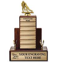 Fantasy Football Walnut Perpetual Trophy