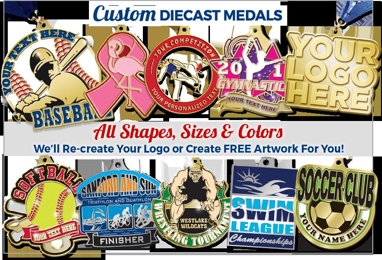 Custom Diecast Medals
