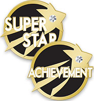 Soaring Star With Gem Achievement Pins