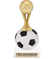 "9"" Soccer Squishball Trophy"