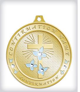 Rhinestone Custom Religious Medals