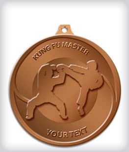 Antique Bronze Custom Martial Arts Medals