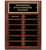 Large Walnut Perpetual Plaques