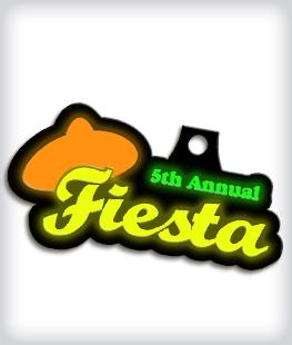 Glow in the Dark Custom Fiesta Medals