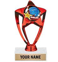 "6"" Red Star Insert Trophy"