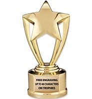 "5 3/4"" Gold Star Trophy"