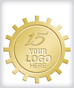 Shiny Gold Custom Years of Service Pins