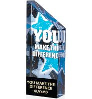 Vibrant You Make A Difference Crystal