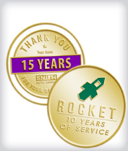 Custom Years of Service Coins