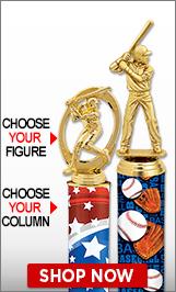 Baseball Column Trophies