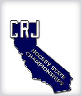 Custom Soft Enamel State Shaped Hockey Pins
