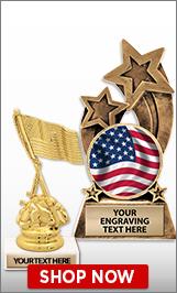American Flag Trophies