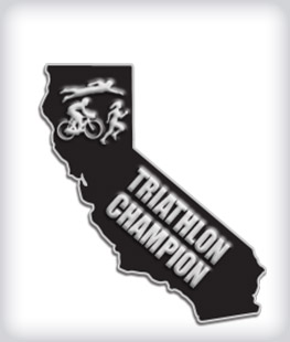 Custom State Shaped Triathlon Pins