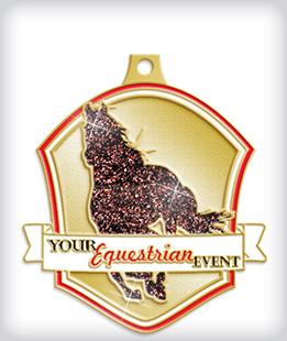 Glitter Custom Equestrian Medals