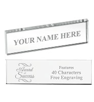 Desk Nameplate Crystal