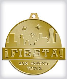Antique Gold Custom Fiesta Medals