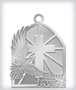 Shiny Silver Custom Religious Medals