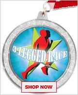 3 Legged Race Medals