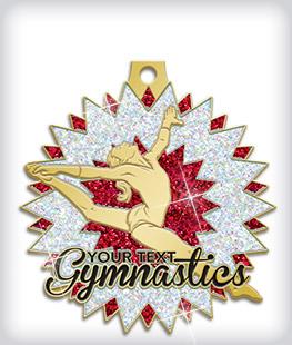 Glitter Custom Gymnastics Medals