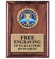 Classic Walnut Finished Vertical Insert Plaques
