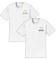 White T-Shirt With Color Logo