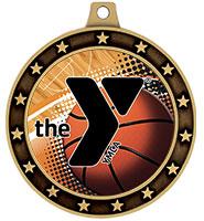 "2 1/2"" YMCA Universe Star Insert Medals"