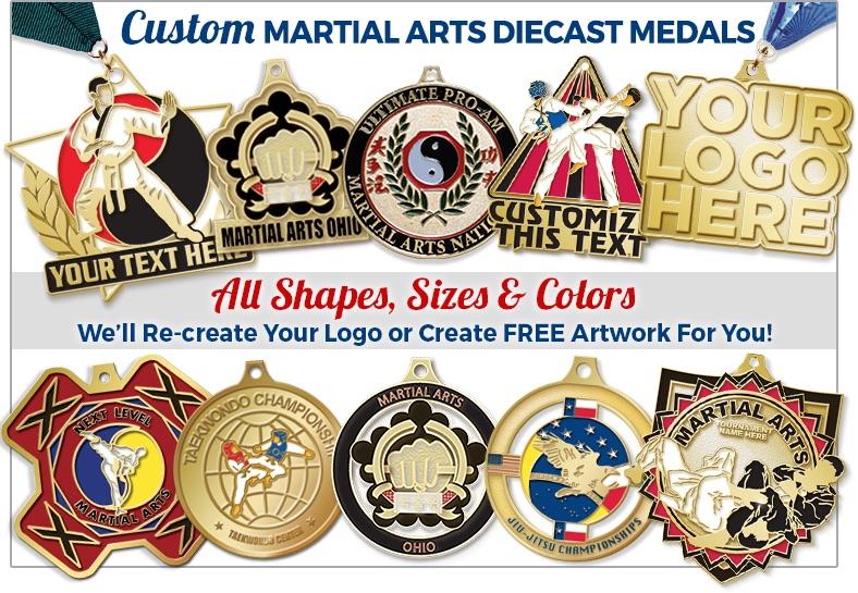 Custom Logo Martial Arts Diecast Medals