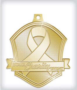 Shiny Gold Custom Charity Medals