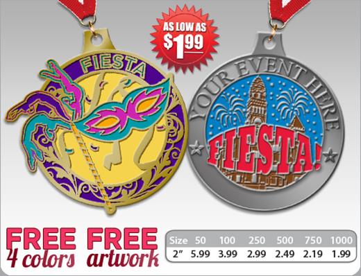 Crown Custom Fiesta Medals