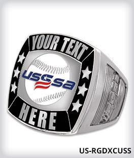 Custom USSSA Silver Deluxe Ring