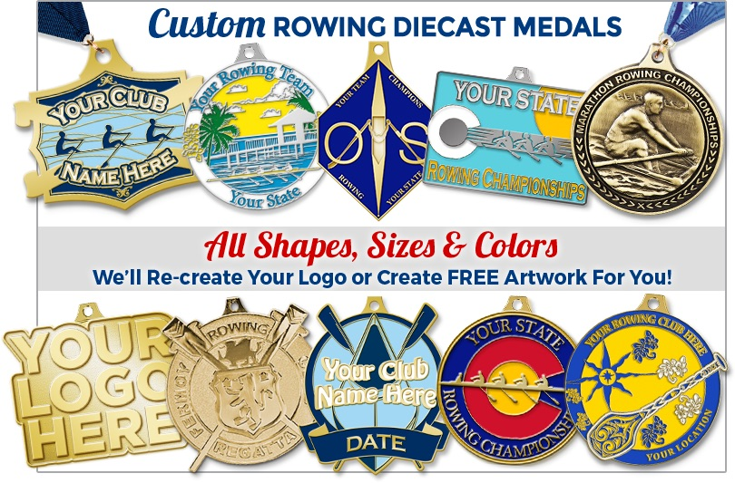 Custom Rowing Diecast Medals
