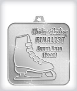 Shiny Silver Custom Skating Medals