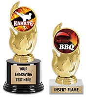 Gold Flame Insert Trophy