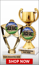 Sack Race Trophies
