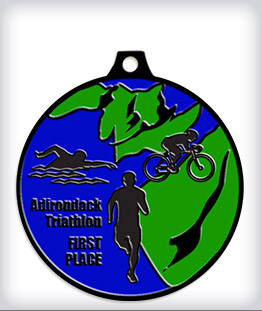 Black Dyed Custom Triathlon Medals