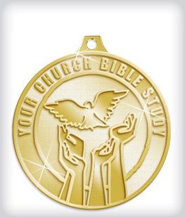 Shiny Gold Custom Religious Medals