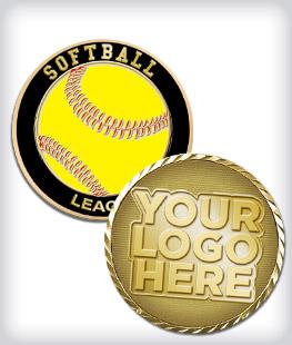 Custom Softball Coins