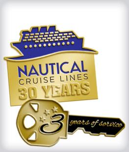 Custom Years of Service Color Enamel Pins