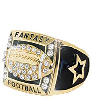 Fantasy Football Gold Fantasy Ring