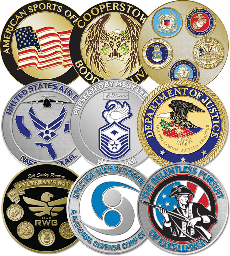 Military Challenge Coins | Army, Navy, Air Force, Marines Challenge Coin