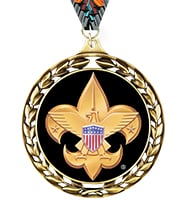 Laurel Wreath Boy Scout™ Insert Medal