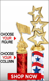 4th of July Column Trophies