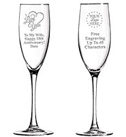Midnight Long Champagne Flutes